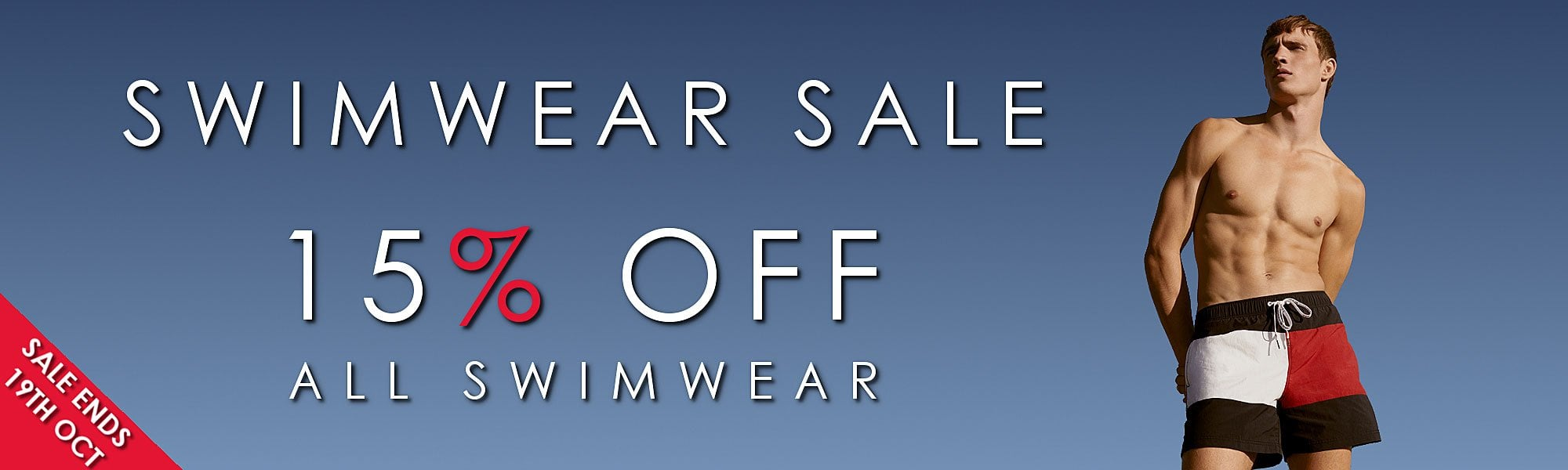 15% OFF ALL SWIMWEAR