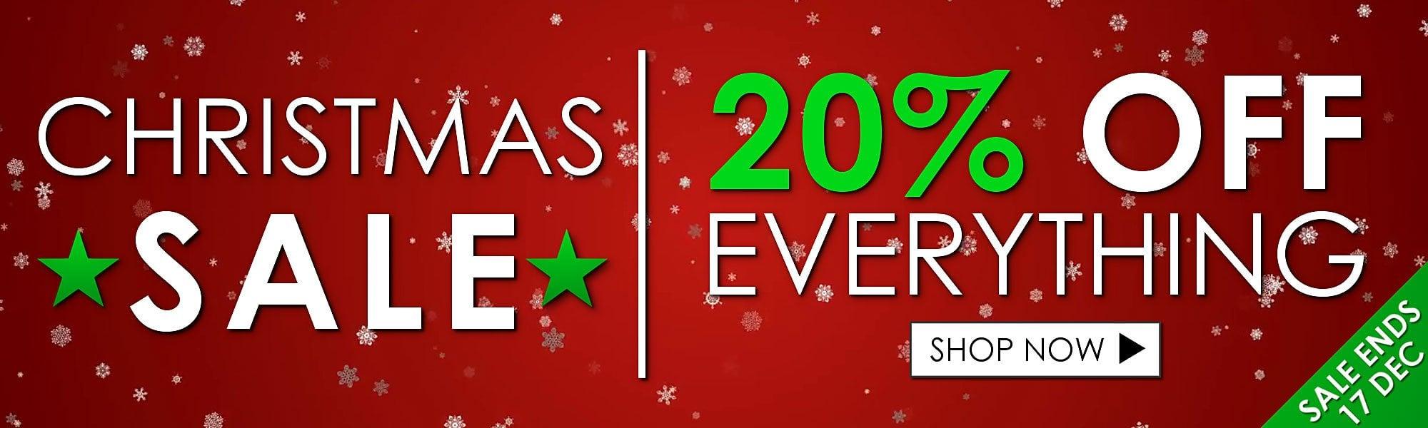 CHRISTMAS 20% OFF SALE