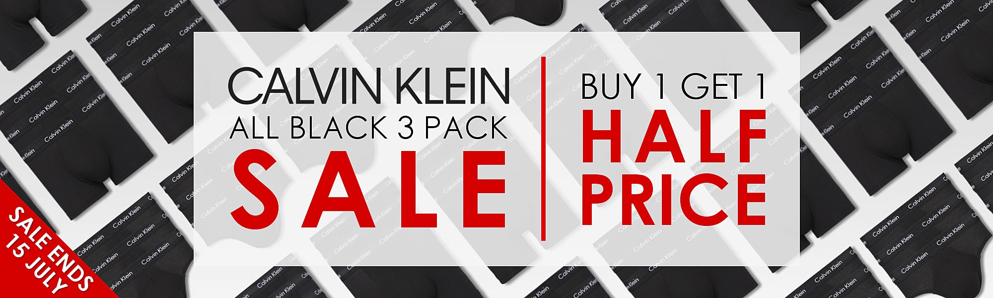 Calvin Klein All Black Sale - Buy 1 Get 1 Half Price