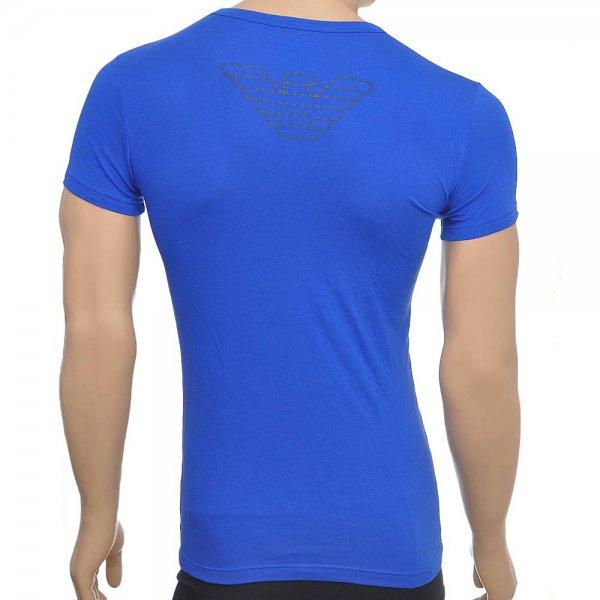 ... Emporio Armani Eagle Stretch Cotton V-Neck T-Shirt, Royal Blue. ‹