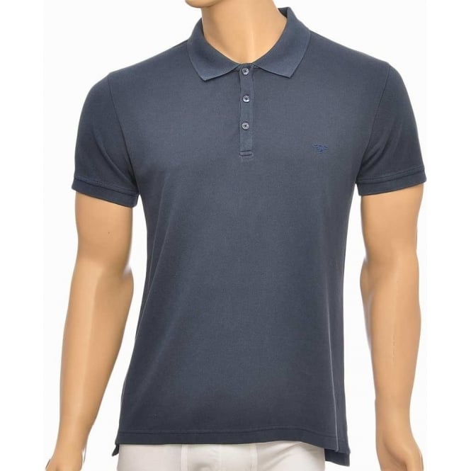 Emporio Armani Pique Polo Cotton T-Shirt, Marine