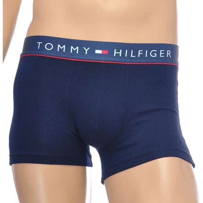 Tommy Hilfiger Cotton Flex Boxer Trunk, Navy