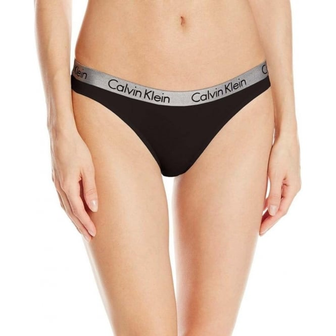 Calvin Klein Women Radiant Thong, Black