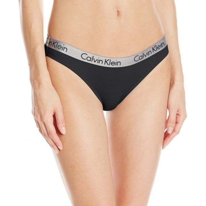 Calvin Klein Women Radiant Bikini Brief, Black