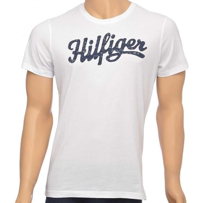 Tommy Hilfiger Norton Organic Cotton Short Sleeved Crew Neck T-Shirt, White