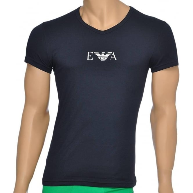 Emporio Armani Fashion Stretch Cotton V-Neck T-Shirt, Marine