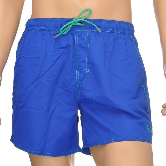 HUGO BOSS Lobster Swim Shorts, Blue