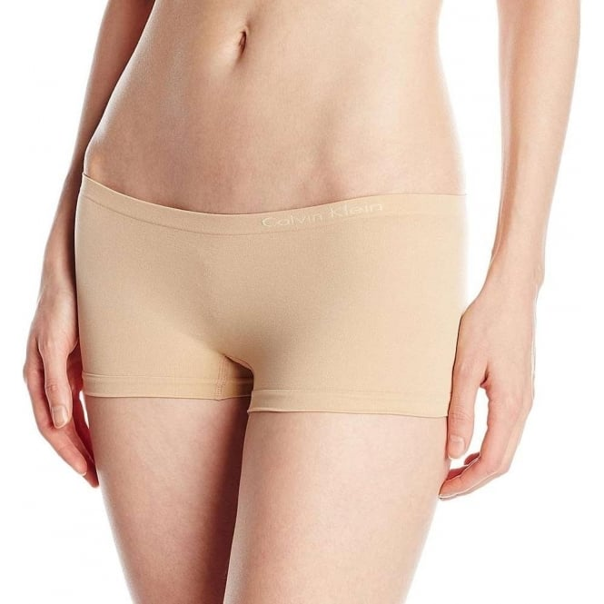 Calvin Klein Women Pure Seamless Boyshort, Bare