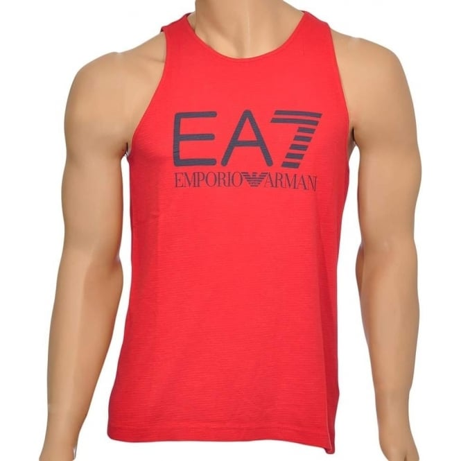 EA7 Emporio Armani Sea World Core Logo Tank Top, Red
