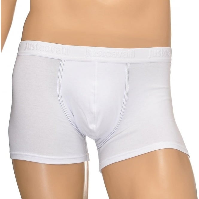 Just Cavalli Cotton Stretch Boxer Brief, White