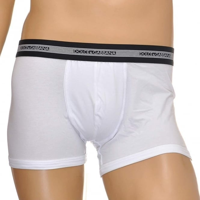 Dolce & Gabbana Modal Stretch Cotton Regular Boxer, White
