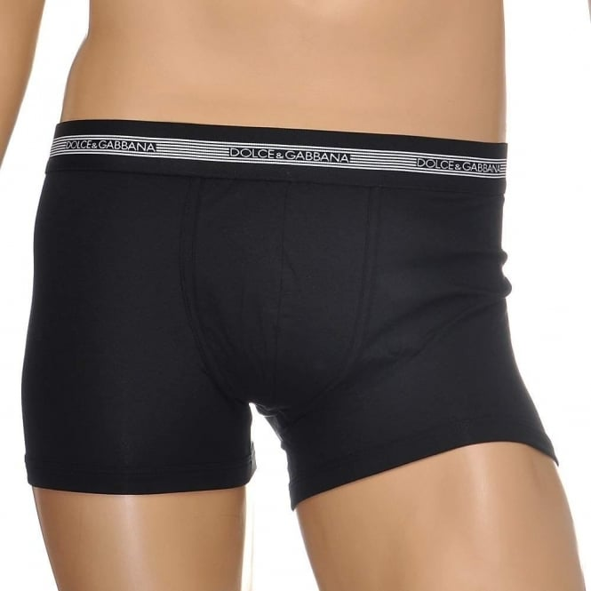 Dolce & Gabbana Modal Stretch Cotton Regular Boxer, Black