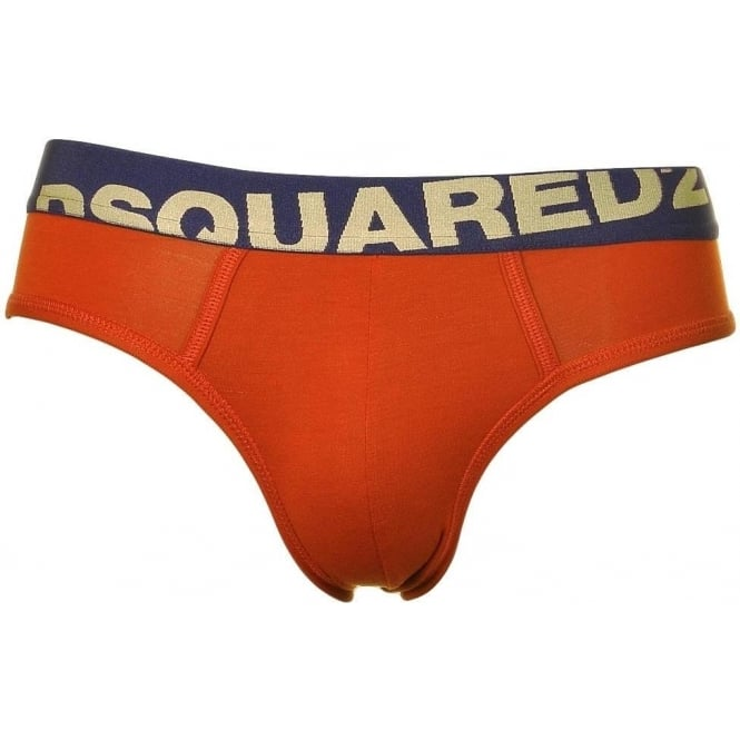 DSQUARED2 Modal Stretch Logo Brief, Red