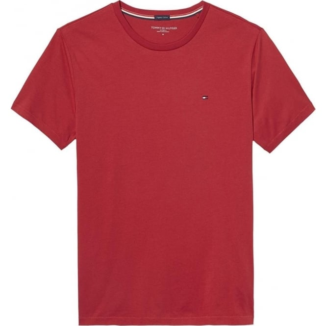 Tommy Hilfiger Organic Cotton Short Sleeved Crew Neck T-Shirt, Scooter Red