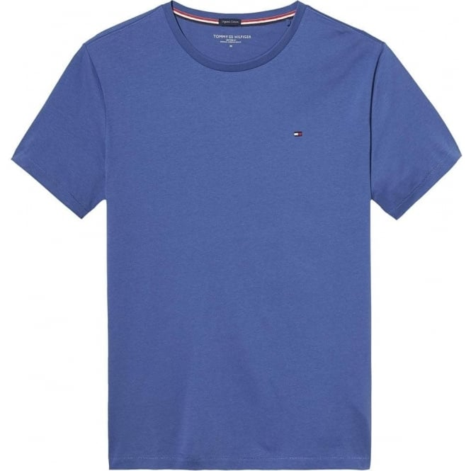 Tommy Hilfiger Organic Cotton Short Sleeved Crew Neck T-Shirt, True Navy