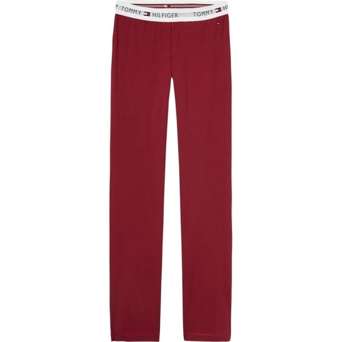 Tommy Hilfiger Women Iconic Cotton PJ Lounge Pant, Rhubarb Red
