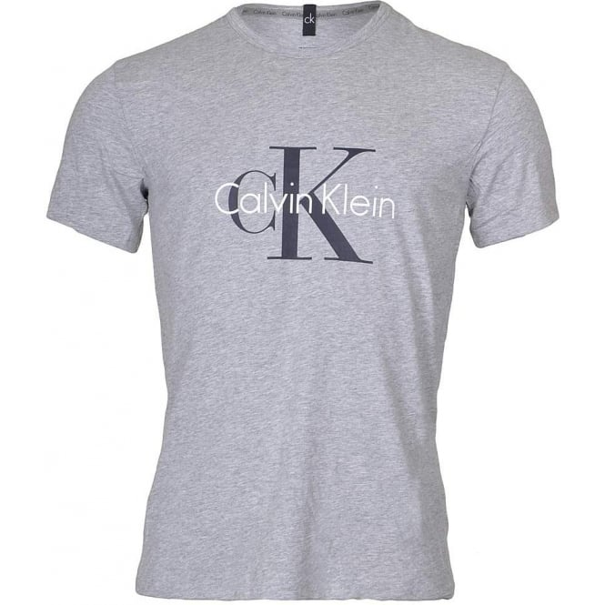Calvin Klein CK Origins Short Sleeved Crew Neck T-Shirt , Heather Grey