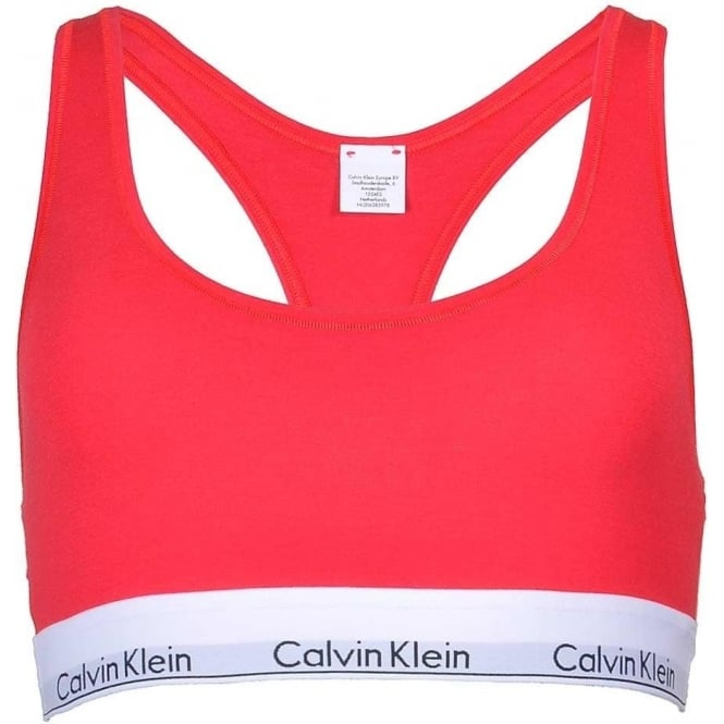Calvin Klein Women Modern Cotton Bralette, Red