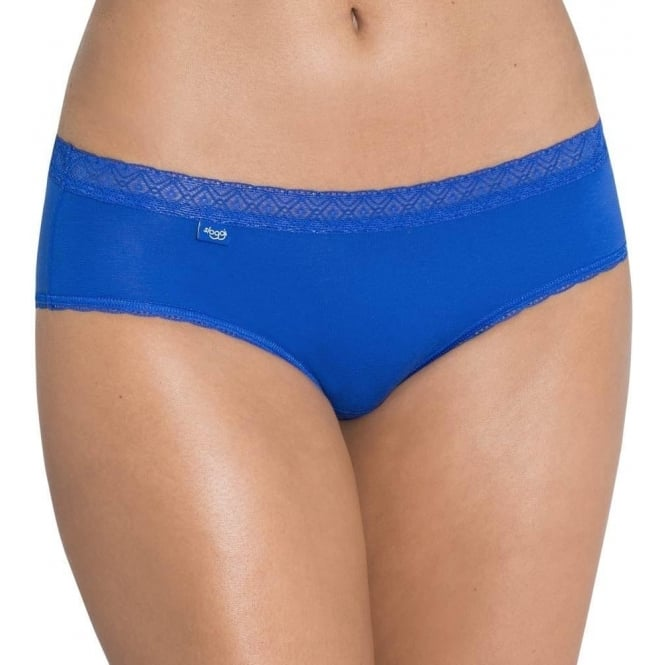 Sloggi Women EverNew Lace Hipster Brief, Blue