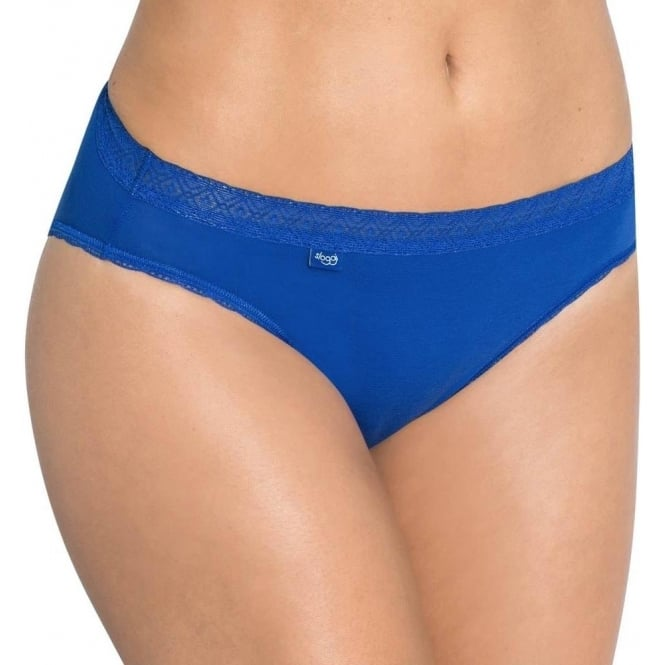 Sloggi Women EverNew Lace Tai Brief, Blue