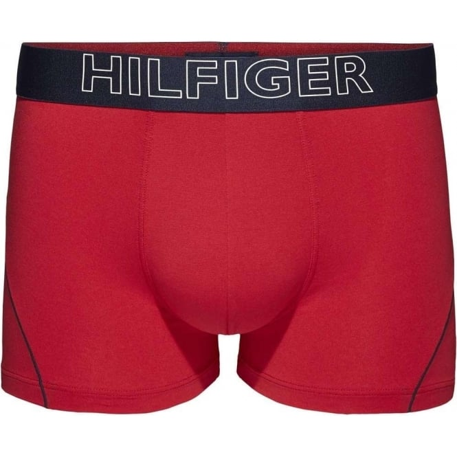 Tommy Hilfiger Cotton Athletic Trunk, Tango Red