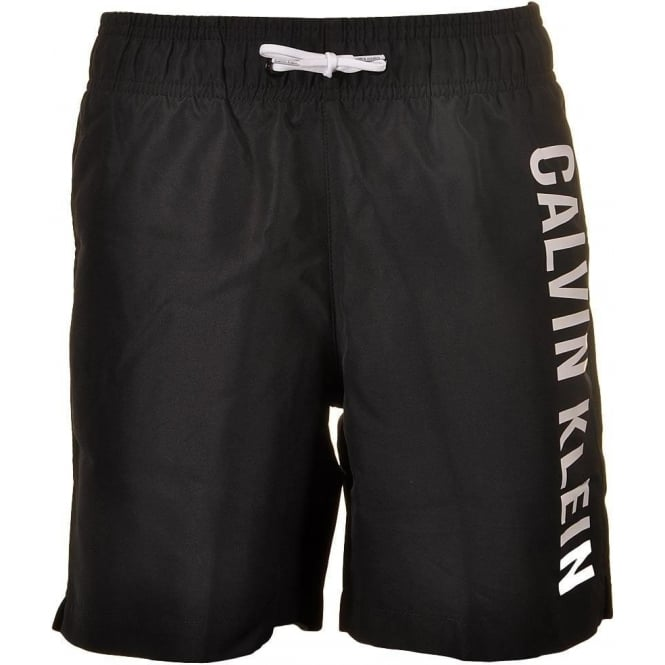 Calvin Klein Boys Intense Power Swim Shorts, Black
