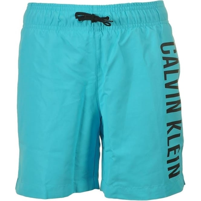 Calvin Klein Boys Intense Power Swim Shorts, Blue Atoll
