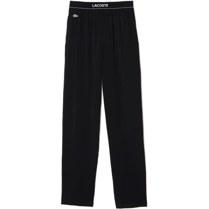 Lacoste Stretch Cotton Loungepant, Black