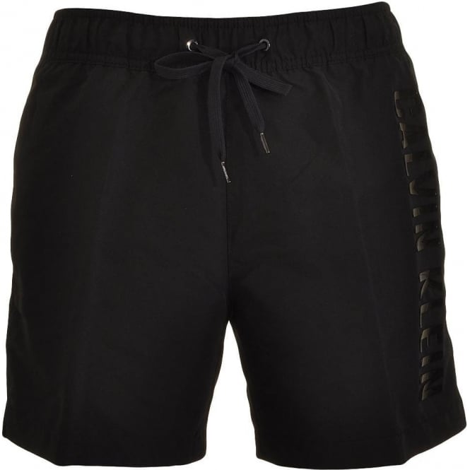 Calvin Klein Black Embossed Swim Shorts