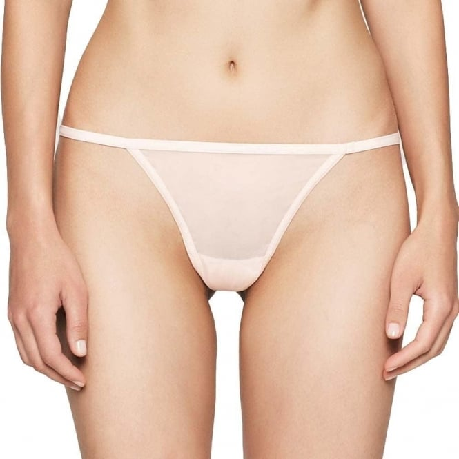 Calvin Klein Women SHEER MARQ Thong, Nympths Thigh