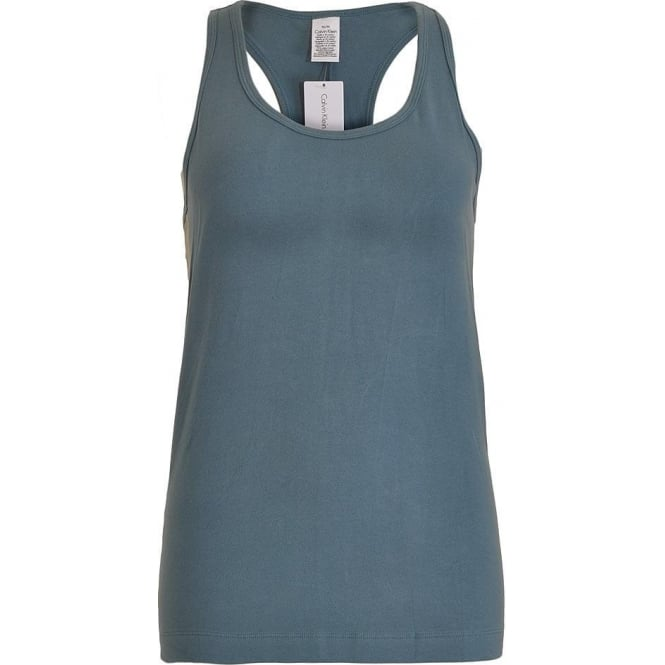 Calvin Klein Women Seamless Logo Tank Top, Blue Steel