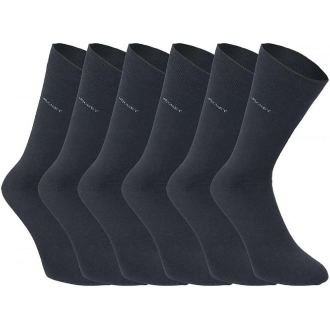 Jockey 6 Pack Cotton Rich Business Socks, Navy