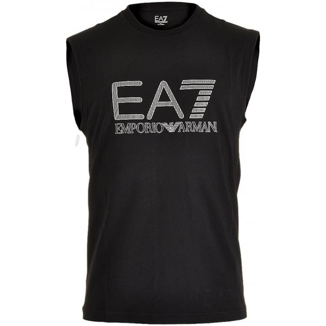 EA7 Emporio Armani Train Visibility Logo Tank Top, Black