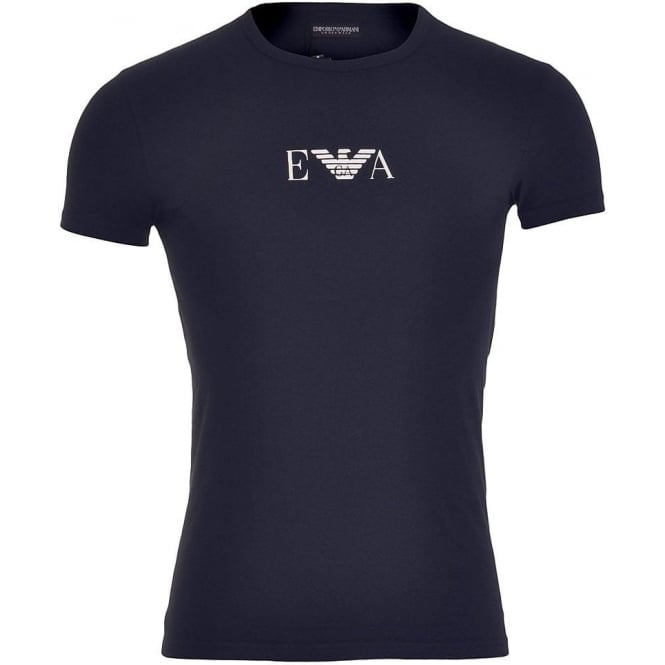 Emporio Armani Fashion Stretch Cotton Crew Neck T-Shirt, Marine