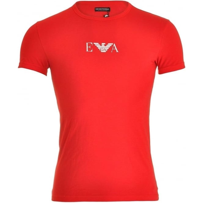 Emporio Armani Fashion Stretch Cotton Crew Neck T-Shirt, Red