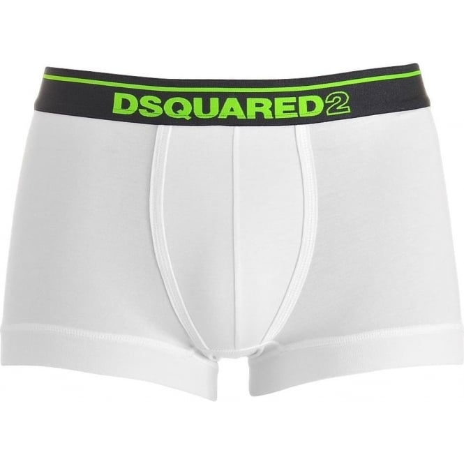 DSQUARED2 Modal Stretch Logo Low Rise Trunk, White / Green
