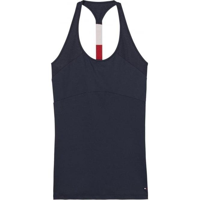Tommy Hilfiger Women Flag Microfiber Tank Top, Navy