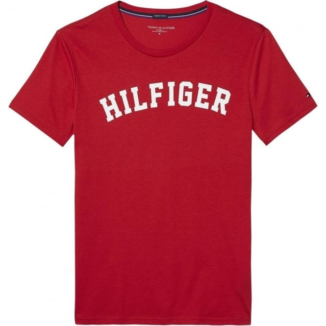 Tommy Hilfiger Organic Cotton Short Sleeved Crew Neck T-Shirt, Tango Red