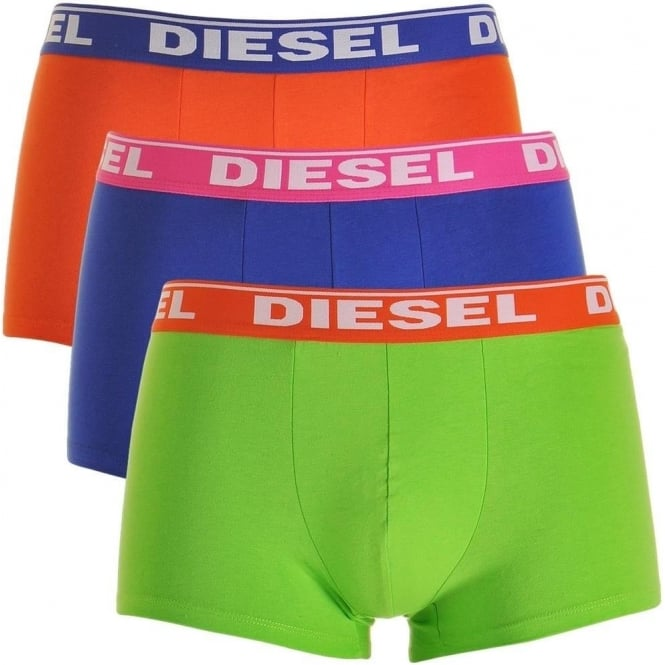 DIESEL Fresh & Bright 3-Pack Boxer Trunk UMBX-Shawn, Orange / Blue / Green