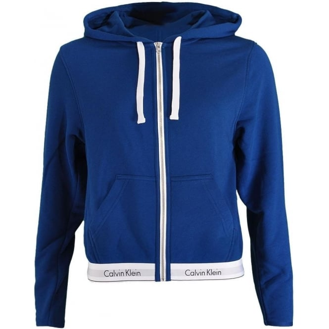 Calvin Klein Women Modern Cotton Zip Hoody, Orion