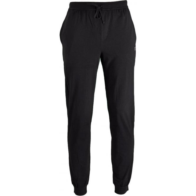 HUGO BOSS Stretch Cotton Drawstring Loungepant, Black
