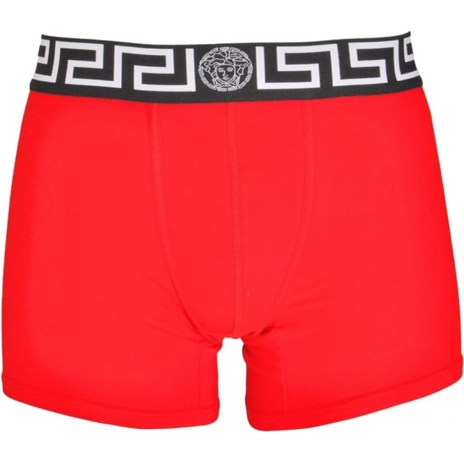 Versace Iconic Boxer Trunk, Red