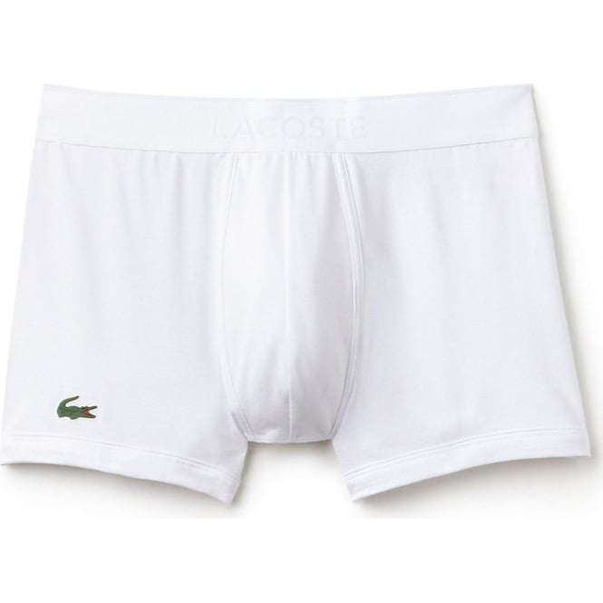 Lacoste Micro Pique Cotton Modal Stretch Boxer Trunk, White