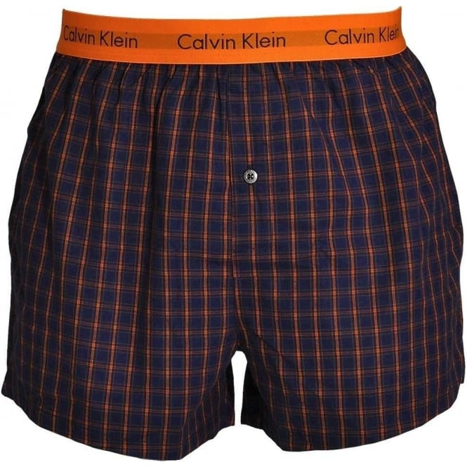 Calvin Klein Woven Slim Fit Boxer, Cary Plaid Magestic