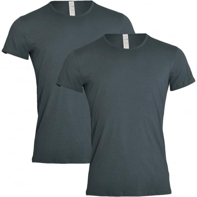 Sloggi 24/7 2-Pack Crew Neck T-Shirt, Stormy Grey