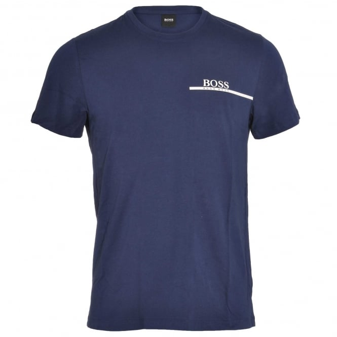 HUGO BOSS Pure Cotton Crew Neck T-Shirt, Blue