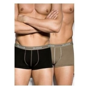 Sloggi Start 2-Pack Hipster, Black/Green