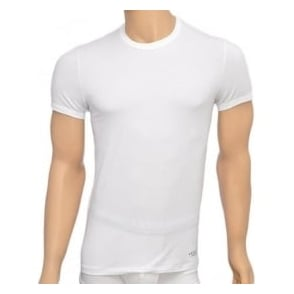 Versace Titan Stretch Cotton Crew Neck T-Shirt, White