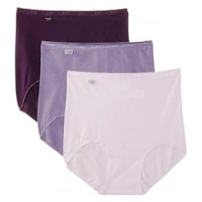 Sloggi Women Basic 3 Pack Maxi Brief, Purple