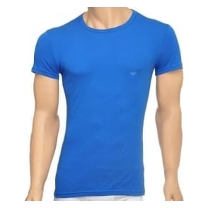 Emporio Armani Fashion Stretch Cotton Crew Neck T-Shirt, China Blue